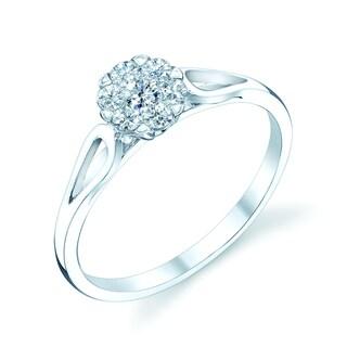 14k White Gold 1/4ct TDW Diamond Engagement Ring (H-I, VS1-VS2)