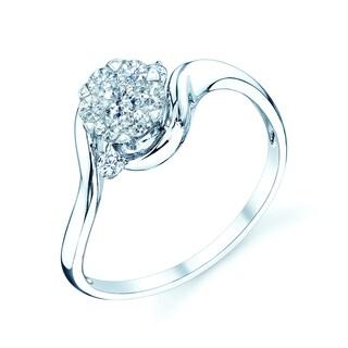 14k White Gold 1/3ct TDW Diamond Commitment Ring (H-I, VS1-VS2)