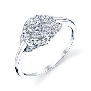 14k White Gold 3/4ct TDW Diamond Promise Ring (H-I, VS1-VS2)
