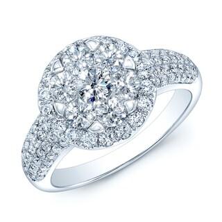 14k White Gold 2 1/3ct TDW Diamond Bridal Ring (H-I, VS1-VS2)