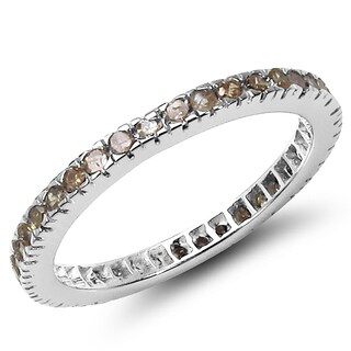 Malaika Sterling Silver 3/5 Carat Genuine Champagne Diamond Ring