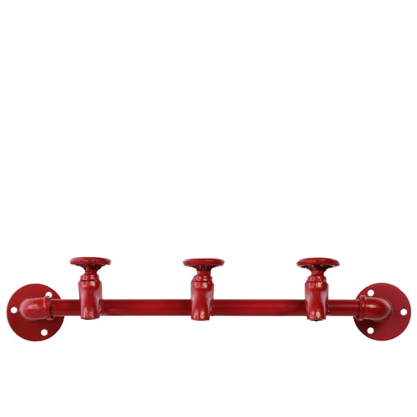 Metal Coat Hanger Red