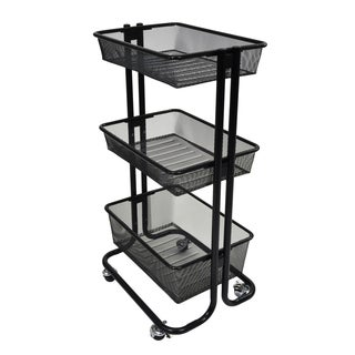 Offex Home Storage Kitchen Rolling Utility Cart