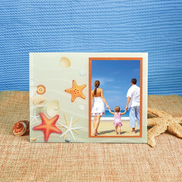 Glass Orange Beach Theme Frame