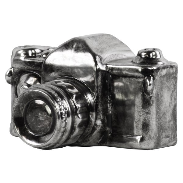 Ceramic 1976 Asahi Pentax Spotmatic Camera Sculpture Tarnished Chrome Silver
