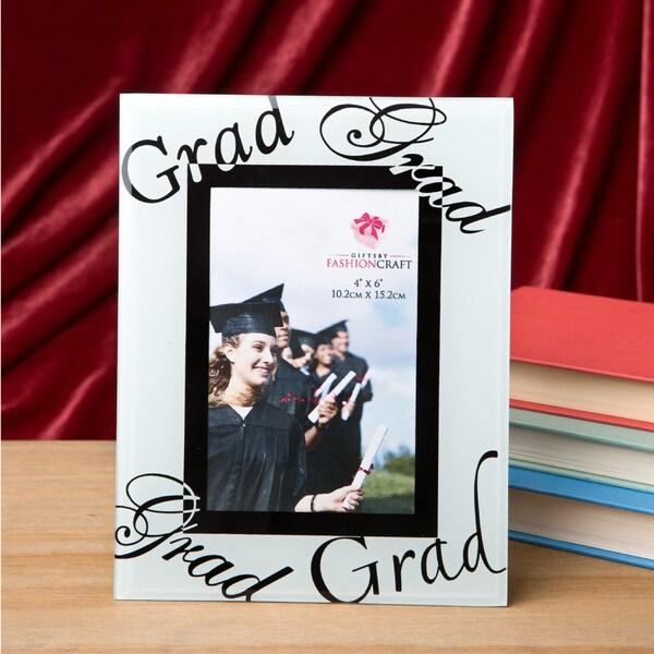 Glass Grad Word Frame