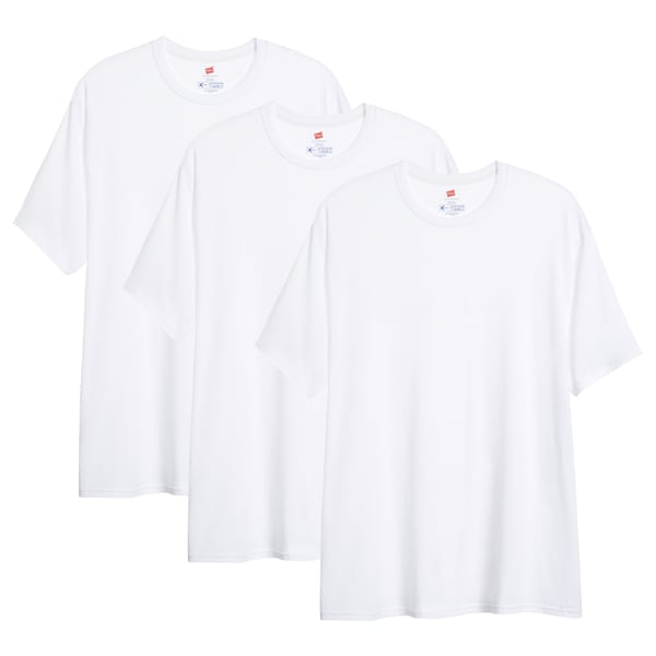 Hanes Men's X-Temp Big and Tall Crew Neck T-Shirt (Pack of 3)