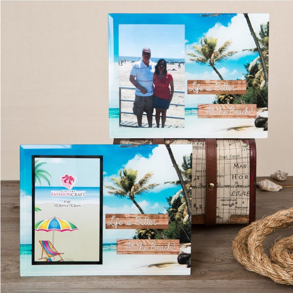 "Glass ""Life is Better at the Beach"" Frame"