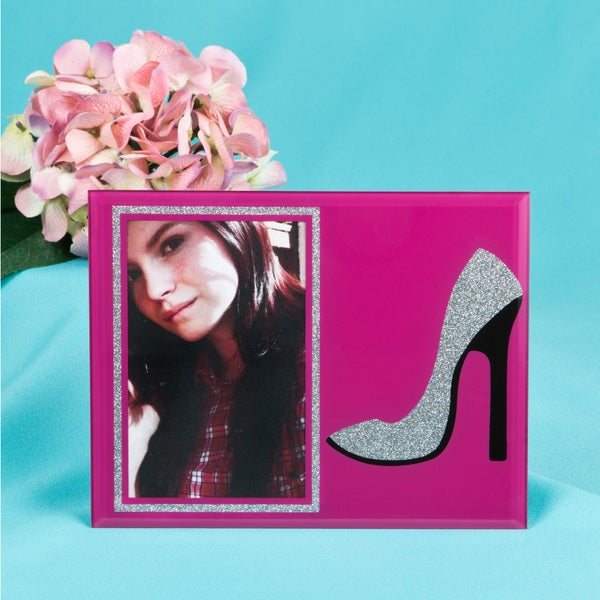 Glass High Heel Shoe Frame