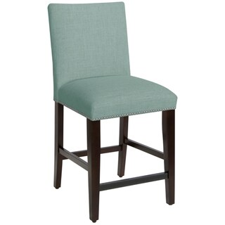 Portfolio Orion Caribbean Blue Linen Upholstered 23 Inch
