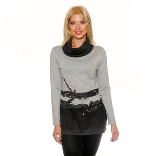 Nancy Yang Multicolor Rhinestone Embellished Sweater Tunic