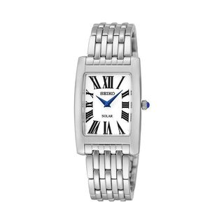 Seiko Women's 'Core' Solar Stainless Steel Bracelet Blue Hand Watch