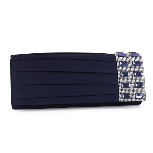 J. Furmani Pleated Crystal Side Clutch