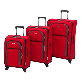 Leisure Luggage Super Lights 3-piece Expandable Spinner Luggage Set