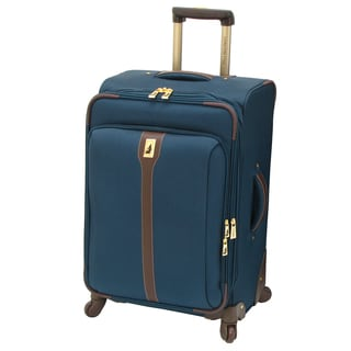 London Fog Westminster Navy 25-inch Expandable Spinner Upright Suitcase