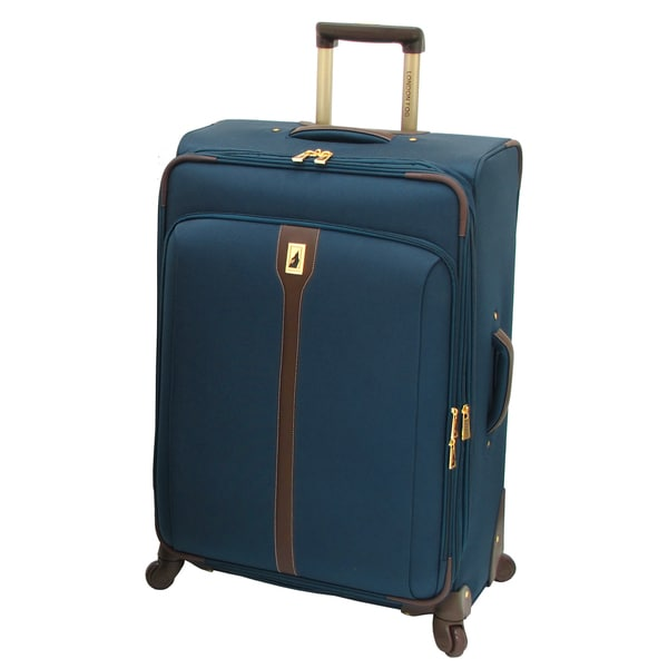 London Fog Westminster Navy 29-inch Expandable Spinner Upright Suitcase