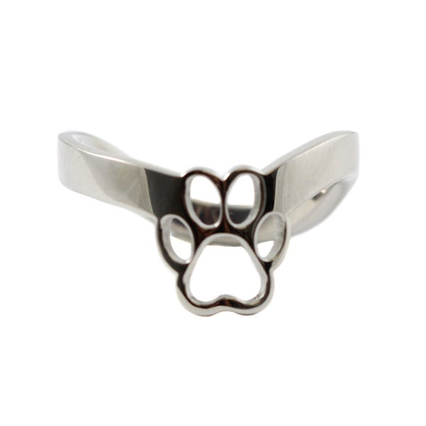 Paw Print Thumb Ring