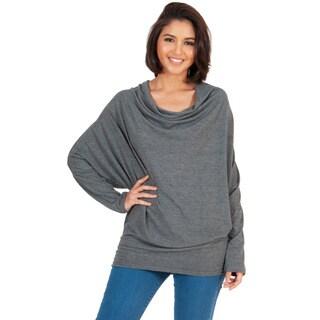Koh Koh Women's Long Sleeve Cowl Neck Sweater