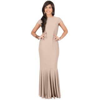 KOH KOH Women's Cap Sleeve Mermaid Cocktail Dress