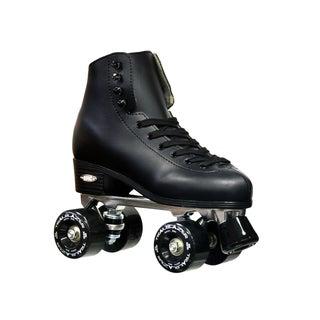 Epic Classic Men's Black High-Top Quad Roller Skates
