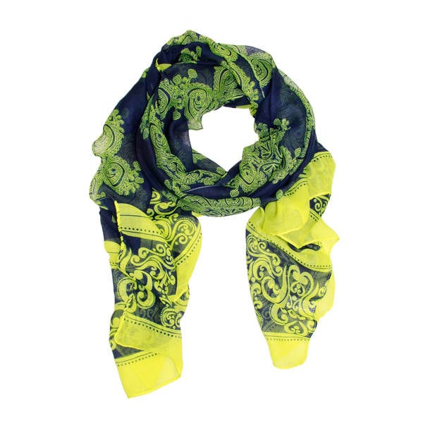 Handmade Saachi Women's Abstract Paisley Scarf (China) 16864569