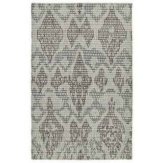 Hand-Knotted Vintage Charcoal Ikat Rug (9'0 x 12'0)