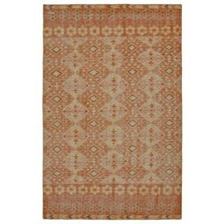 Hand-Knotted Vintage Orange Kilim Rug (8'0 x 10'0)