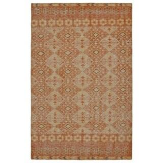 Hand-Knotted Vintage Orange Kilim Rug (9'0 x 12'0)
