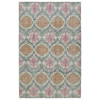 Hand-Knotted Vintage Grey Boho Rug (5'6 x 8'6)