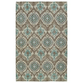 Hand-Knotted Vintage Light Brown Boho Rug (9'0 x 12'0)
