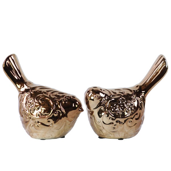 Bronze Ceramic Bird (Set of Two) 16864884