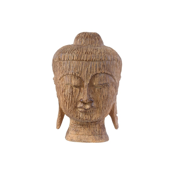 Natural Finish Tan Resin Big Buddha Head