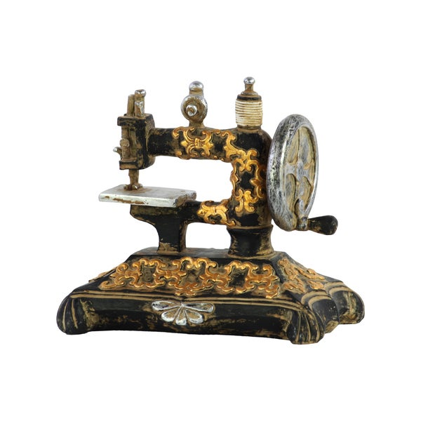 Resin Black/ Gold Sewing Machine