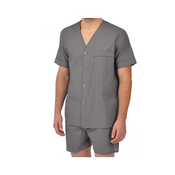 Majestic Men's 100-percent Cotton End on End Shorty Pajama