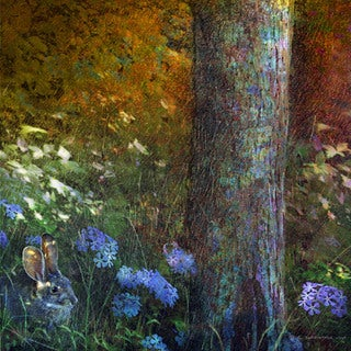 """Marmont Hill - """"Forest Bunny"""" by Chris Vest Painting Print on Canvas"""