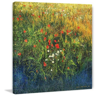 """Marmont Hill - """"Barley And Poppies B"""" by Chris Vest Painting Print on Canvas"""