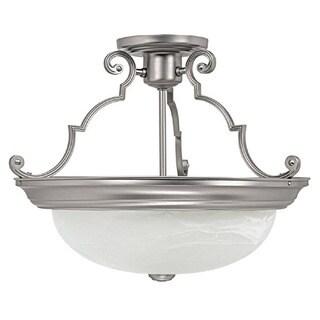 Capital Lighting Traditional 3-light Matte Nickel Semi Flush Mount