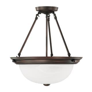 Capital Lighting Transitional 3-light Burnished Bronze Semi Flush Mount