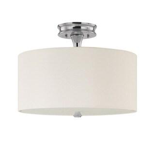 Capital Lighting Studio Collection 3-light Polished Nickel Semi Flush Fixture