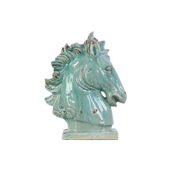 Ceramic Horse Head Turquoise