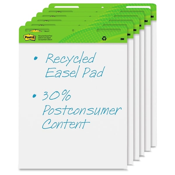 Post-it Recycled Self-Stick Easel Pad - 6/CT