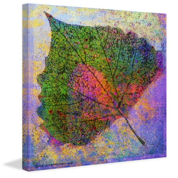 "Marmont Hill - ""Cottonwood Leaf"" by Chris Vest Painting Print on Canvas"