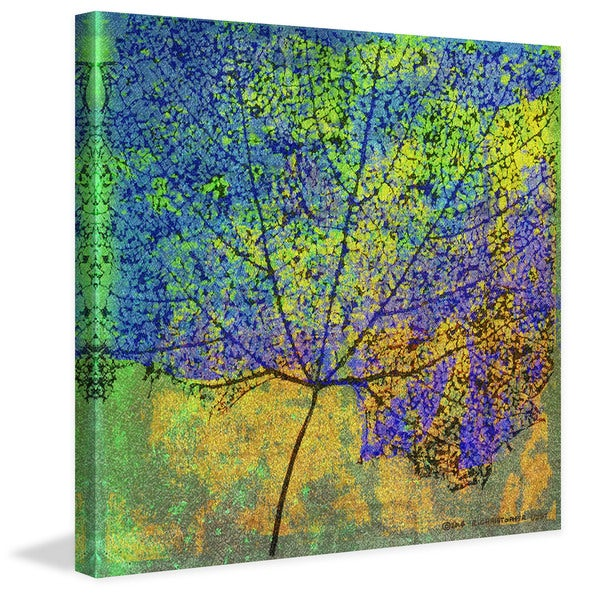 """Marmont Hill - """"Cottonwood Leaf II"""" by Chris Vest Painting Print on Canvas"""
