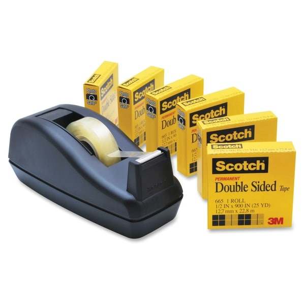 Scotch Permanent Double Sided Tape - 6/PK