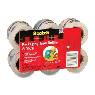 Scotch Easy-Grip Packaging Tape Dispenser Refill - 6/PK