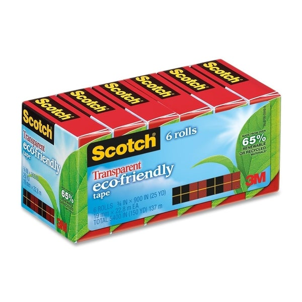 Scotch Eco-Friendly Transparent Tape - 6/PK