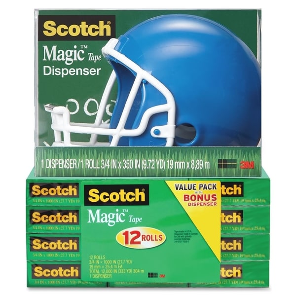 Scotch Magic Tape Helmet Dispenser Pack - 1/PK