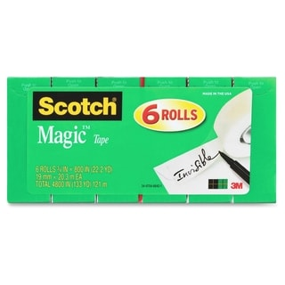 Scotch 810S6 Magic Tape Rolls - 8/PK