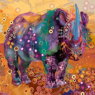 """Marmont Hill - """"The Last Rhino"""" by Evelia Painting Print on Canvas"""