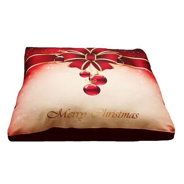 Dogzzzz Christmas Present Large Rectangular Dog Bed